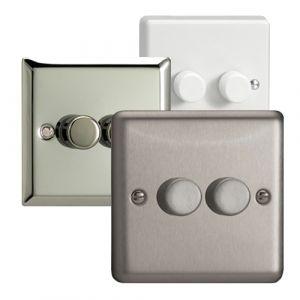Varilight 2 Gang Single Plate 2 Way LED Dimmer Switch (V-Pro & V-Com)
