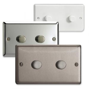 Varilight 2 Gang Twin Plate 2 Way LED Dimmer Switch (V-Pro & V-Com)