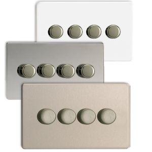 Varilight V-Pro 4 Gang 2 Way Screwless LED Dimmer Switch