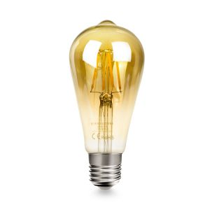 RetroLED Dimmable E27 4W LED Filament Pear Shaped Bulb Amber (Warm White 2700K)