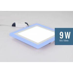 Lotus 9W Square Blue Edge-Lit LED Panel Light