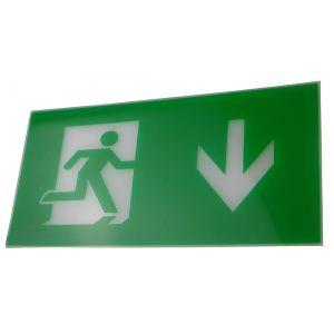 Exit Legend for Exit Box - Arrow Down