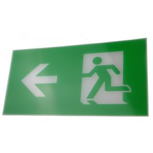 Exit Legend For Exit Box - Arrow Points Left