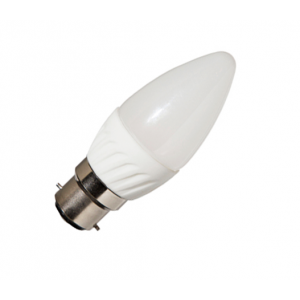 B22 3.5W LED Bulb Candle, Ceramic Frosted