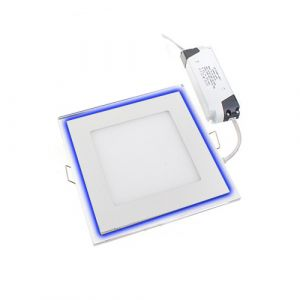 16W Blue Edge Lit LED Panel Light Square