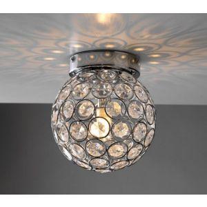 Garfield IP44 Bathroom Ceiling Light Chrome/Acrylic Beads
