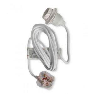 4m Hydro Flex Kit Plug & E27 Lampholder White