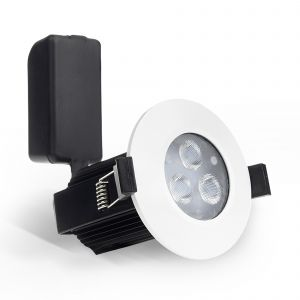 ExoLED CREE 9W Dimmable Fire Rated LED Downlight (IP65), White