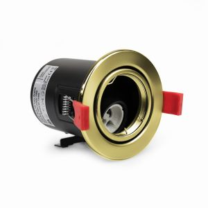 NeoTec+ Ignis Fire Rated Downlight Steel GU10 Tilt Brass
