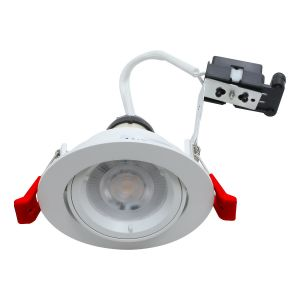 EcoSpot+ Hoop Plus Downlight Die Cast GU10 Tilt White