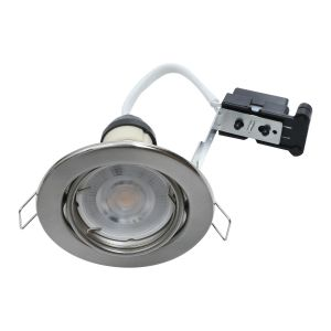 EcoSpot+ Hoop Downlight Steel GU10 Tilt Satin Chrome