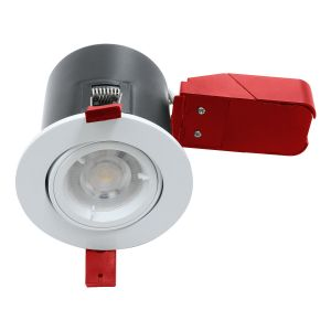 Fire Rated Downlight GU10 Tilt - White - Diecast