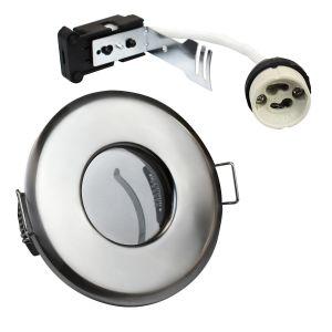 EcoSpot+ Hoop Plus Downlight Die Cast GU10 IP65 Chrome