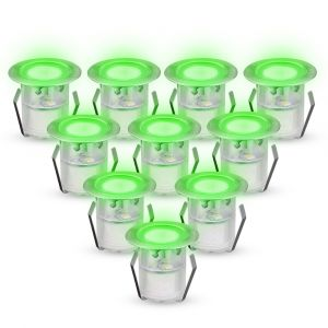 Green LED Decking Light Kit, 40mm