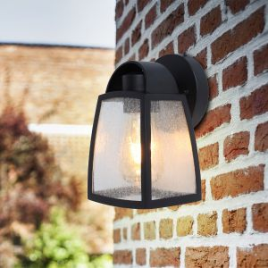 Kelsey Outdoor LED Wall Light With Decorative Glass
