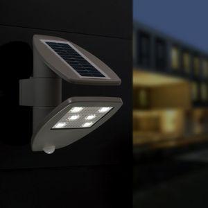 Zeta Outdoor Solar LED Wall Light With PIR Motion Sensor