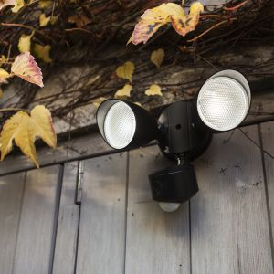 Draco Double Outdoor LED Wall Light With PIR Motion Sensor and Camera