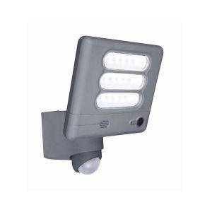 Grey Esa Outdoor LED Wall Light With PIR Motion Sensor and Camera
