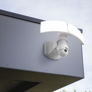 Libra Outdoor LED Wall Light With PIR Motion Sensor and Camera