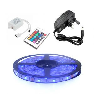 3m RGB LED Strip Light Kit, 30 LED, 7.2W