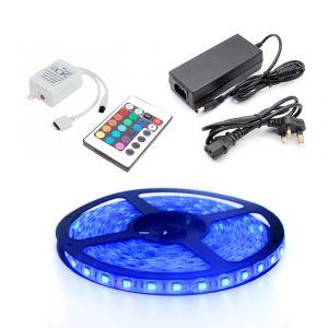 5m RGB LED Strip Light Kit, 60 LED, 14.4W