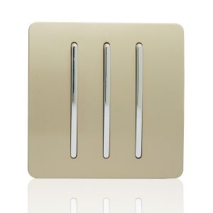 Trendi Light Switch 3 Gang 2 Way Gold