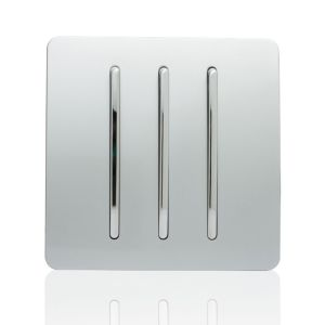 Trendi Light Switch 3 Gang 2 Way Silver