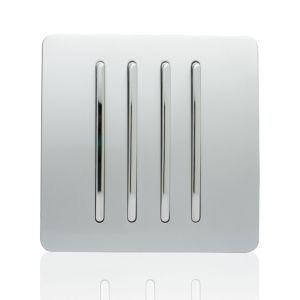 Trendi Light Switch 4 Gang 2 Way Silver