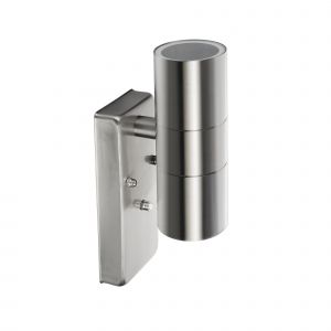 Neosteel Stainless Steel Dusk Till Dawn Up/Down Wall Light GU10 IP44