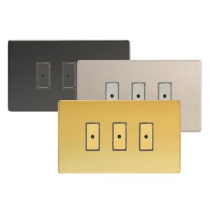 Varilight V-Pro Screwless Eclique2 3-Gang Master Dimmer / Slave Unit