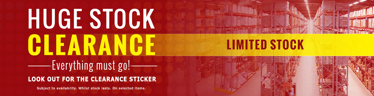 HUGE STOCK Clearance On Selected Products