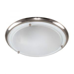 IP44 Flush LED Ceiling Light Satin Nickel
