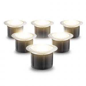 NeoDeck Warm White LED Decking Light Kit, 40mm