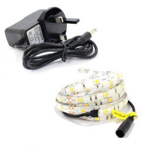 3m Single Colour LED Strip Light Kit (30x5050, 7.2W, 510LM)