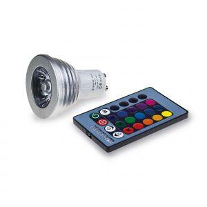 ColourBoost GU10 RGB LED - 3W = 30W +1 FREE Controller*