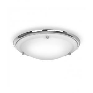 IP44 Flush LED Ceiling Light Chrome